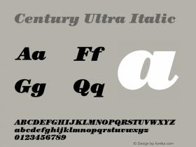 Century-UltraItalic Version 2.031;PS 002.000;hotconv 1.0.50;makeotf.lib2.0.16970图片样张