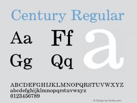 Century-Regular Version 1.000;PS 001.000;hotconv 1.0.38图片样张