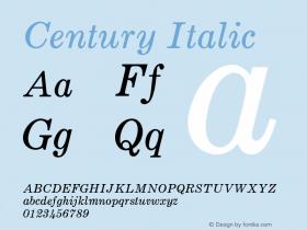 Century-Italic Version 1.000;PS 001.000;hotconv 1.0.38图片样张