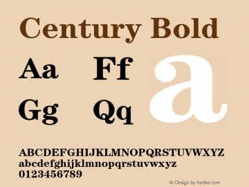 Century-Bold Version 2.031;PS 002.000;hotconv 1.0.50;makeotf.lib2.0.16970图片样张