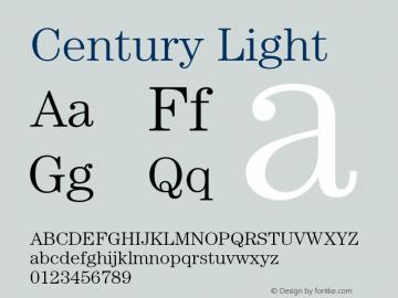 Century-Light Version 2.031;PS 002.000;hotconv 1.0.50;makeotf.lib2.0.16970图片样张