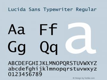 Lucida Sans Typewriter Version 1.00图片样张