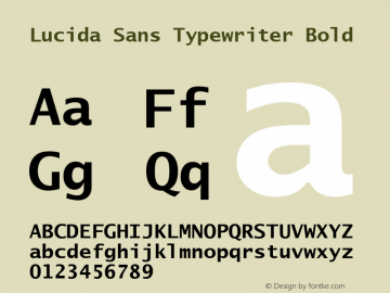 Lucida Sans Typewriter Bold Version 1.00图片样张
