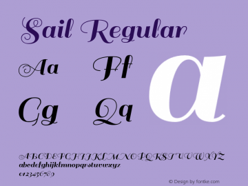 Sail-Regular Version 1.002图片样张
