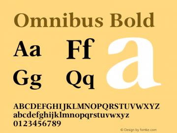 Omnibus-Bold Version 1.00图片样张