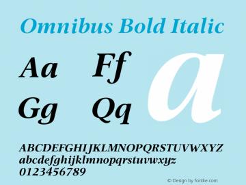 Omnibus-BoldItalic Version 1.00图片样张