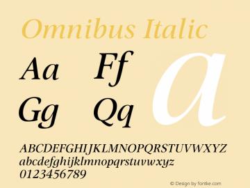 Omnibus-Italic Version 1.00图片样张