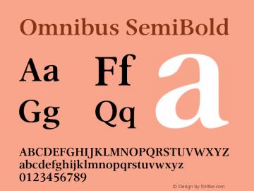 Omnibus-SemiBold Version 1.00图片样张