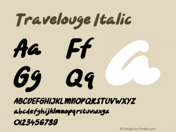 Travelouge Italic Version 1.000图片样张