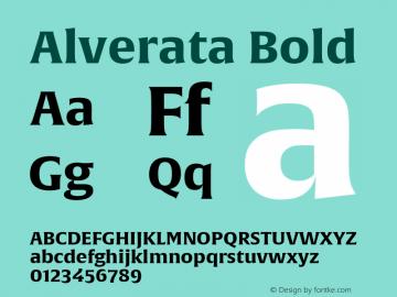 Alverata Bold Version 1.001图片样张