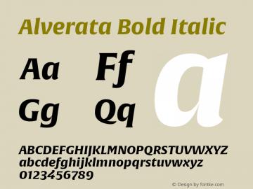 Alverata Bold Italic Version 1.001图片样张
