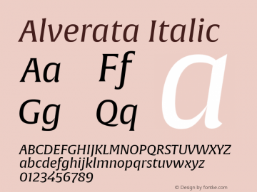Alverata Italic Version 1.001图片样张