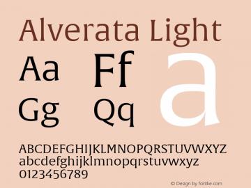 Alverata Lt Version 1.001图片样张