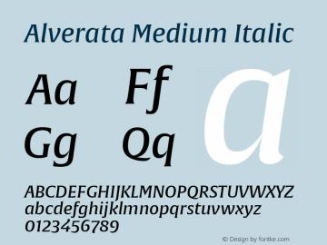 Alverata Md Italic Version 1.001图片样张