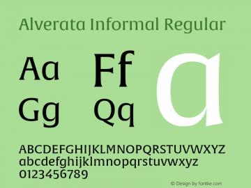 Alverata Informal Version 1.000图片样张