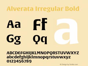 Alverata Irregular Bold Version 1.000图片样张