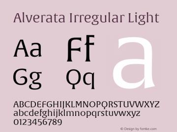 Alverata Irregular Lt Version 1.001图片样张