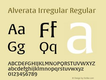 Alverata Irregular Version 1.000图片样张
