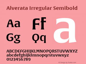 Alverata Irregular Sb Version 1.000图片样张
