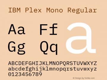 IBM Plex Mono Font,IBMPlexMono Font IBM Plex Mono Version