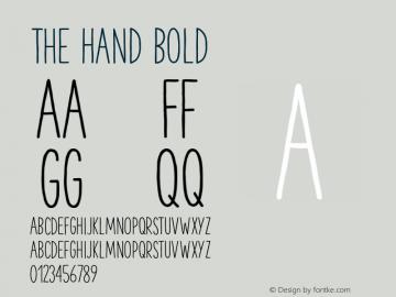 TheHand-Bold Version 3.000图片样张