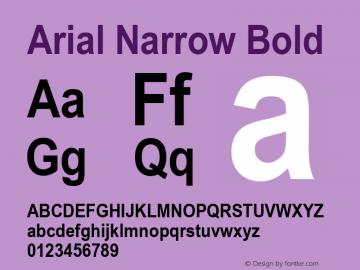 Arial Narrow Bold Version 2.0 - May 17, 1996图片样张