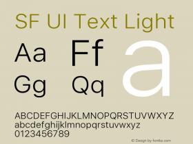 SF UI Text Light Version 1.00 December 6, 2016, initial release图片样张
