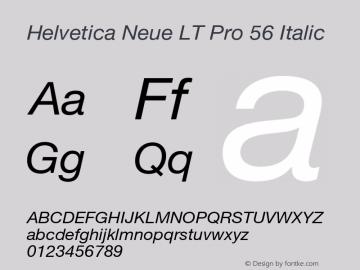 Helvetica Neue LT Pro Font,HelveticaNeueLTPro-It Font