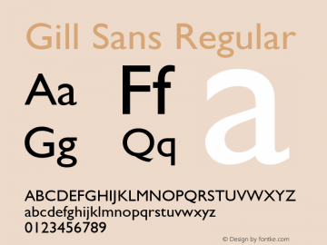 Gill Sans Version 2.0 - September 28, 1995图片样张