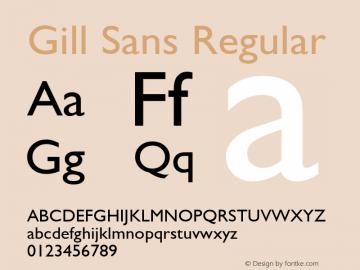 Gill Sans Version 2.0 - September 28, 1995图片样张