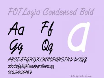 FOTLogia-CondensedBold Version 1.000图片样张