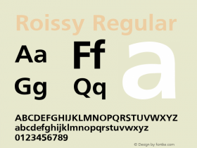 Roissy Regular Converted from U:\HOME\PEARCE\AT\TTFONTS\ST000048.TF1 by ALLTYPE Font Sample