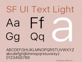 SF UI Text Light 11.0d59e2图片样张
