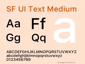 SF UI Text Medium 11.0d59e2图片样张