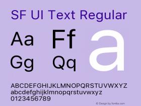 SF UI Text Regular 11.0d59e2图片样张