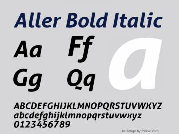Aller Bold Italic Version 1.010图片样张