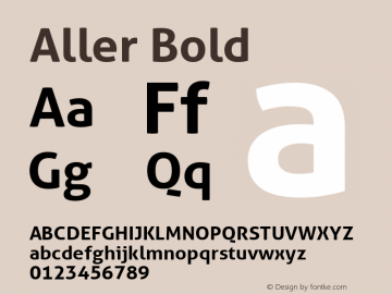 Aller Bold Version 1.010图片样张