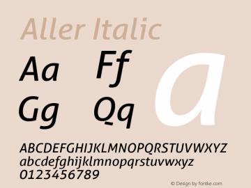 Aller Italic Version 1.010图片样张