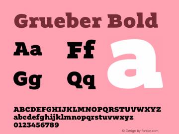 Grueber Bold Version 1.001图片样张