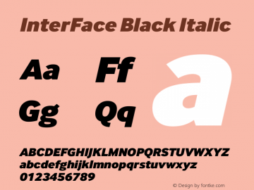 InterFace Black Italic Version 2.001图片样张