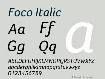 Foco Italic Version 1.101图片样张