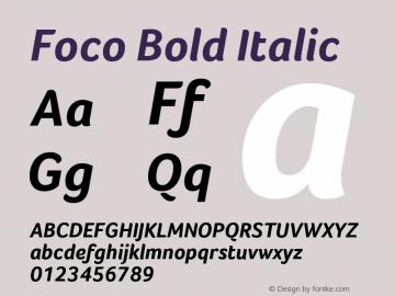 Foco Bold Italic Version 1.101图片样张
