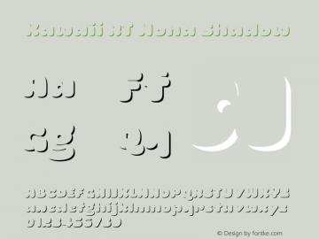 KawaiiRT-MonaShadow Version 1.000;PS 001.000;hotconv 1.0.88;makeotf.lib2.5.64775图片样张