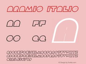 Aramis Italic The IMSI MasterFonts Collection, tm 1995, 1996 IMSI (International Microcomputer Software Inc.)图片样张