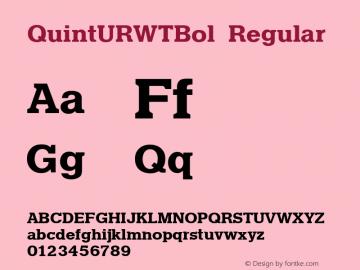 QuintURWTBol Version 1.05图片样张