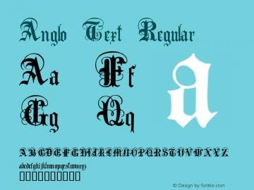 Anglo Text Macromedia Fontographer 4.1 2001-02-17图片样张