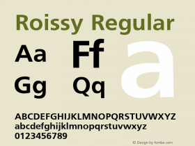 Roissy Regular Converted from D:\TEMP\ROIS1ECC.TF1 by ALLTYPE Font Sample