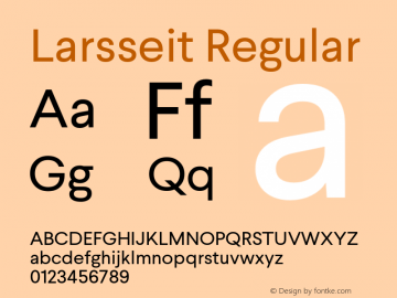 Larsseit Version 1.000;PS 001.001;hotconv 1.0.56;com.myfonts.typedynamic.larsseit.regular.wfkit2.468b图片样张