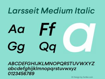 Larsseit-MediumItalic 1.000;com.myfonts.typedynamic.larsseit.medium-italic.wfkit2.468a图片样张
