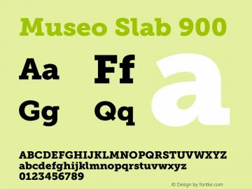 Museo Slab 900 Version 1.000; Fonts for Free; vk.com/fontsforfree图片样张